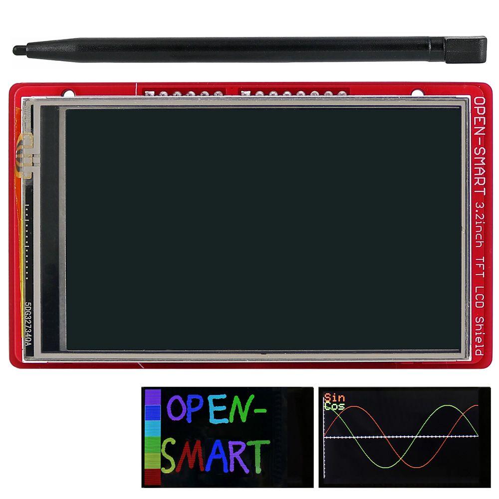 3.2 pouces TFT LCD module d'affichage écran tactile bouclier capteur de température à bord + stylo pour Arduino UNO R3/Mega 2560 R3/Leonardo