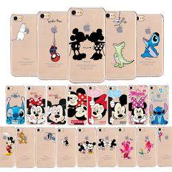 Dessin animé de Mickey Minnie Mouse Souple TPU Silicone Cas de Téléphone Clair Pour Apple iPhone 6 6 s 6 Plus 5 5S Se 8 X pour iPhone 7 Cas Coque