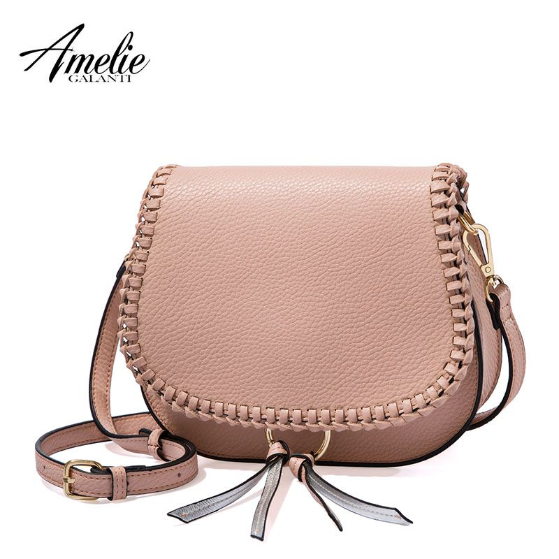 AMELIE GALANTI Ms inclined across a small bag Fashion cute convenient Simple and easy Young people's exclusive Versatile 2017