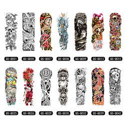 Временные татуировки рукава дизайн полная рука водостойкие татуировки для крутых мужчин женщин Переводные татуировки наклейки на тело иск...