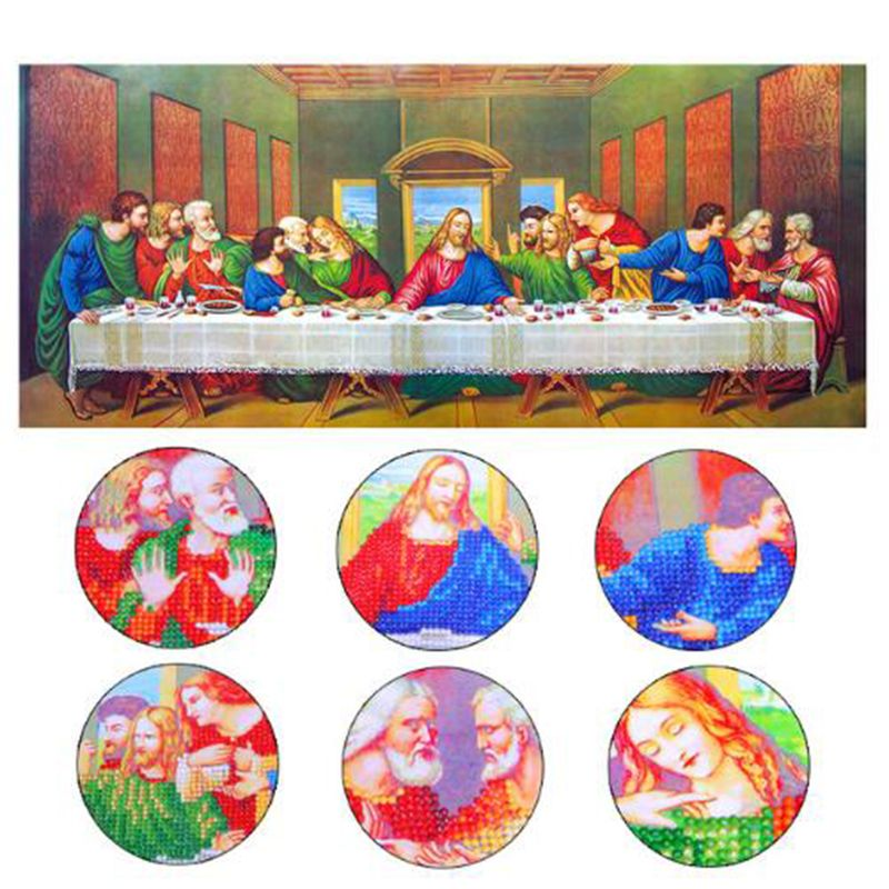 <font><b>Special</b></font> Shaped,The Last Supper,5D DIY Diamond Embroidery,Pasted,3D Diamond painting,Diamond mosaic,Rhinestone,decoration