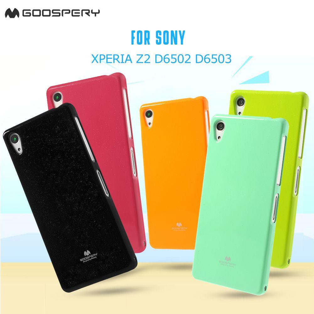 Mercury GOOSPERY für Sony Xperia Z2 D6502 D6503 Grün Glänzende Perle pulver TPU Gelee Abdeckung für Sony Xperia Z2 D6503 D6543 Fall