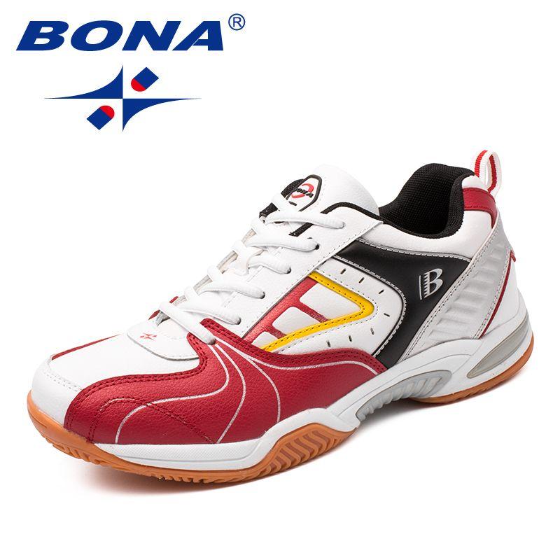 BONA Neue Ankunft Classics Stil Männer Tennis Schuhe Lace Up Männer Sportschuhe Outdoor Jogging Schuhe Bequem Kostenloser Versand