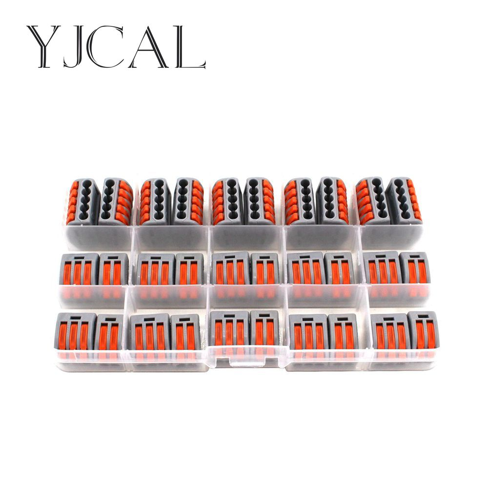 Wago Type 412 413 415 30PCS/BOX Universal Compact Wiring Conector Terminal Block Connectors Terminator Wire Connector AWG 28-12