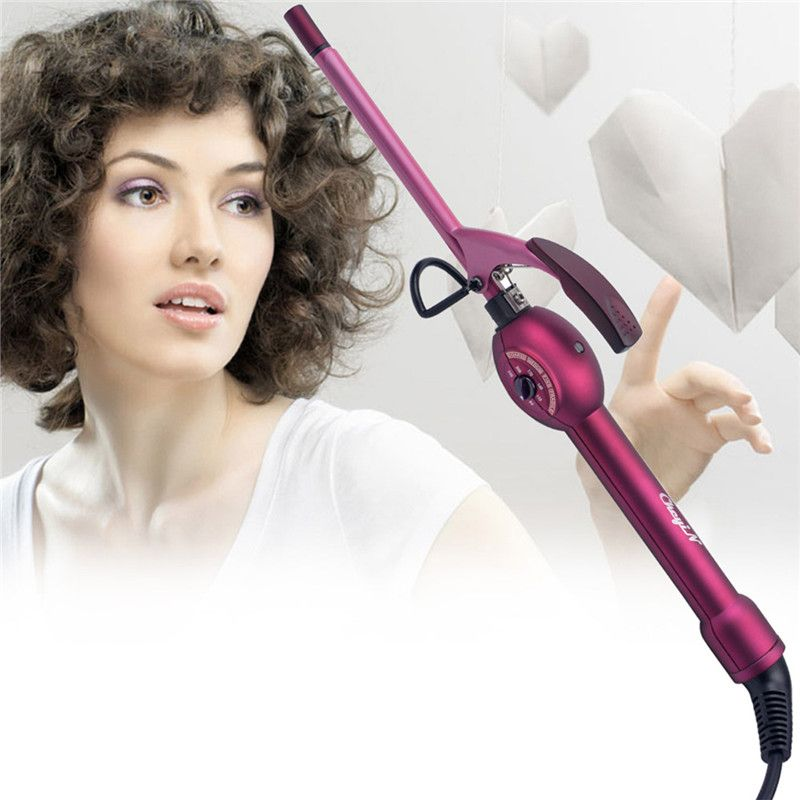 9mm Deep Curly Hair Styler Curls Ceramic Curling Iron Fashion Wand Curler Pear Hair Curlers Rollers High Quaity Curling Wand 467