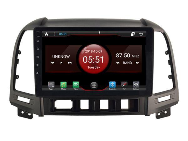 Elanmey top ausgestattet 8 core + 64G rom android 8.1 auto radio für HYUNDAI Santa Fe 2006-2012 Auto AC HU DSP Gps multimedia head unit