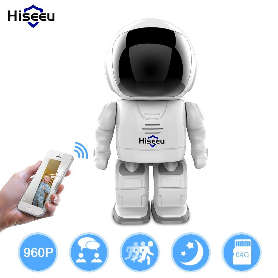 Robot camera Wifi 960P 1.3MP HD Wireless IP Camera Wi-fi Night <font><b>Vision</b></font> Camera IP Network Camera CCTV support two-way audio Hiseeu