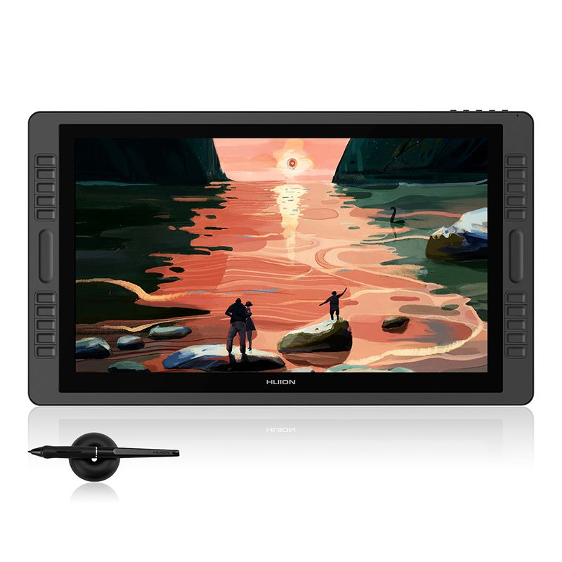 HUION Kamvas Pro 22 Newest 21.5 inch Pen Tablet Monitor Digital Graphics Drawing Pen Display Monitor Battery-free 8192 Levels