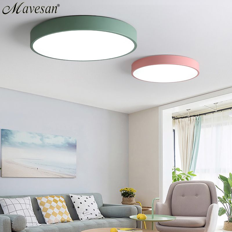 LED Ceiling Lights for Bedroom remote control 5cm ceiling lamp for 8-20square meters modern house lighting fixture Macaroon