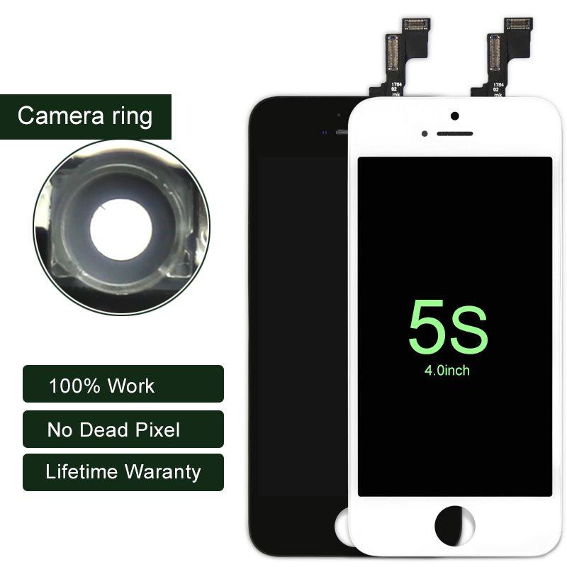 10 PCS/LOT Pour iPhone 5S LCD AAA Affichage Avec Écran Tactile Digitizer 4 Pouce LCD Pour iphone Écran Assemblée Mobile Téléphone LCD
