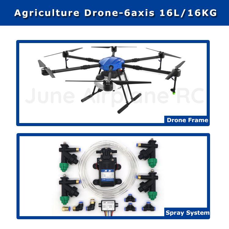 EFT E616 16L wasserdicht Landwirtschaftlichen spritzen drone flug plattform 1630mm radstand 16 KG sprayer system Folding X8 motor