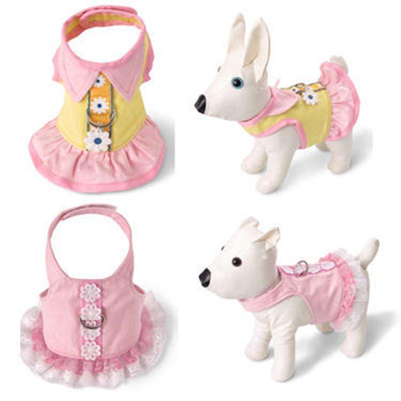 Animal de compagnie chien harnais poitrine gilet brodé jupe chiot chat poitrine corde haute qualité petits coffres sangle pour Teddy