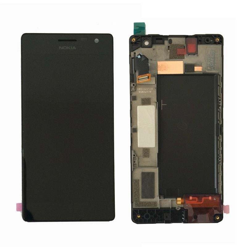 100% Original For Nokia Lumia 730 735 LCD Display Touch Screen Digitizer Assembly with Frame  Free Shipping
