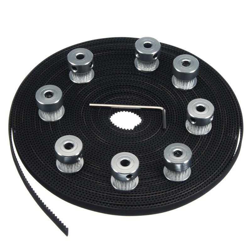 Marke NEUE 10 mt 33ft 20 T GT2 Zahnriemen 6mm breite 10X Riemenscheibe Für 3d-drucker CNC RepRap Durable Praktische
