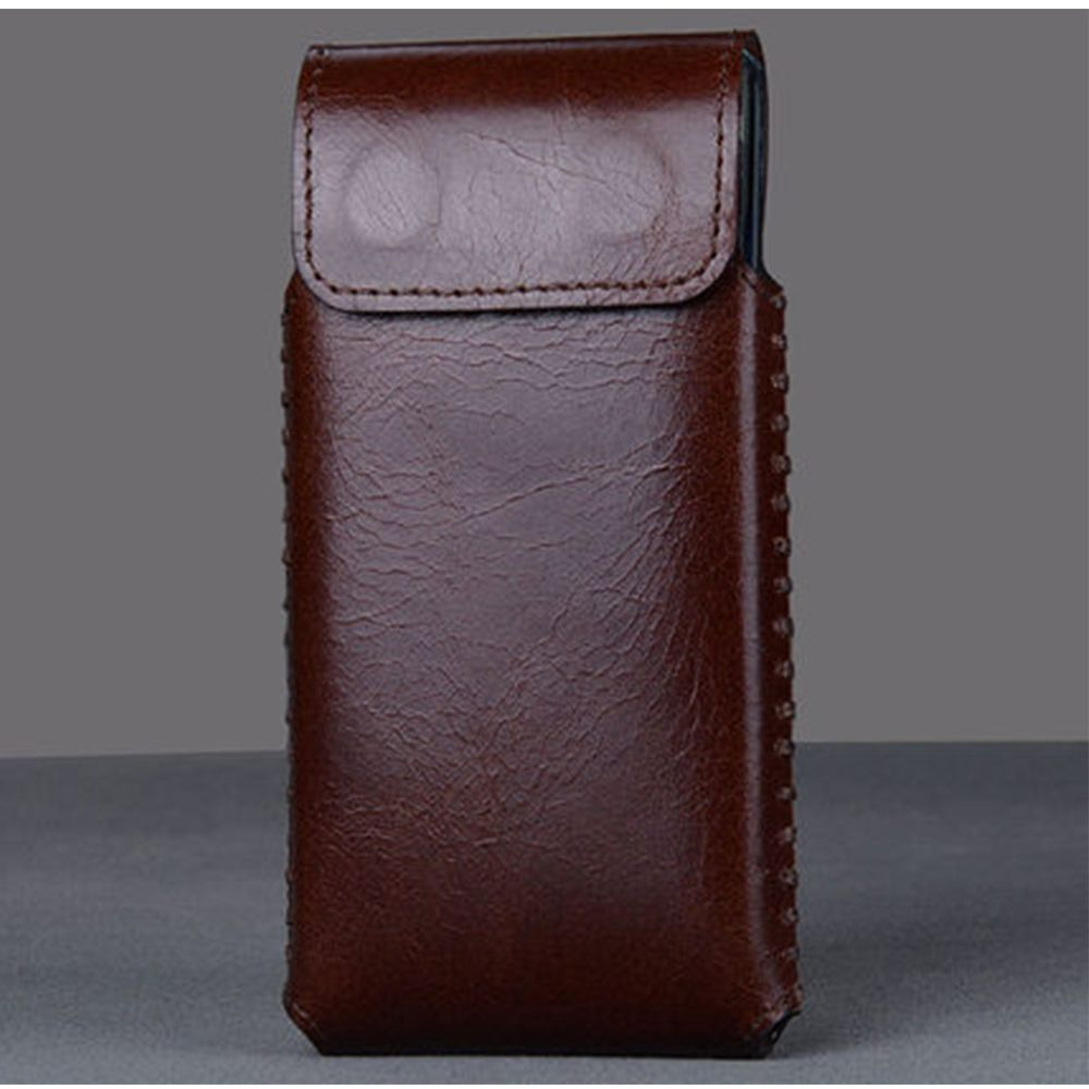 New Luxury Genuine Leather Case High Quality Smart On/off Phone Bag with Magnet Carry Sleeve Cover for Huawei Honor V9