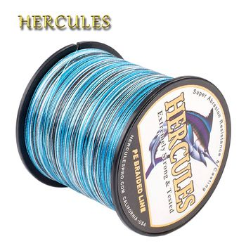 Hercules Fishing 4 Strands 100M 300M 500M 1000M 1500M 2000M PE Braided Fishing Line Saltwater Weave Carp Fishing Cord Pesca Wire