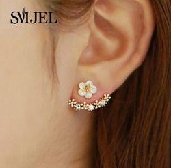 Smjel 2017 moda joyería lindo Cerezo flor pendientes para las mujeres varios flores de melocotón pendientes S129