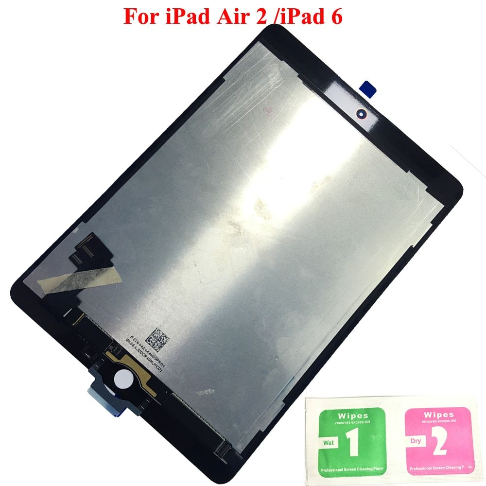 100% Working LCD Display Touch Screen Digitizer Sensors Assembly Panel Replacement For Apple iPad 6 Air 2 A1567 A1566