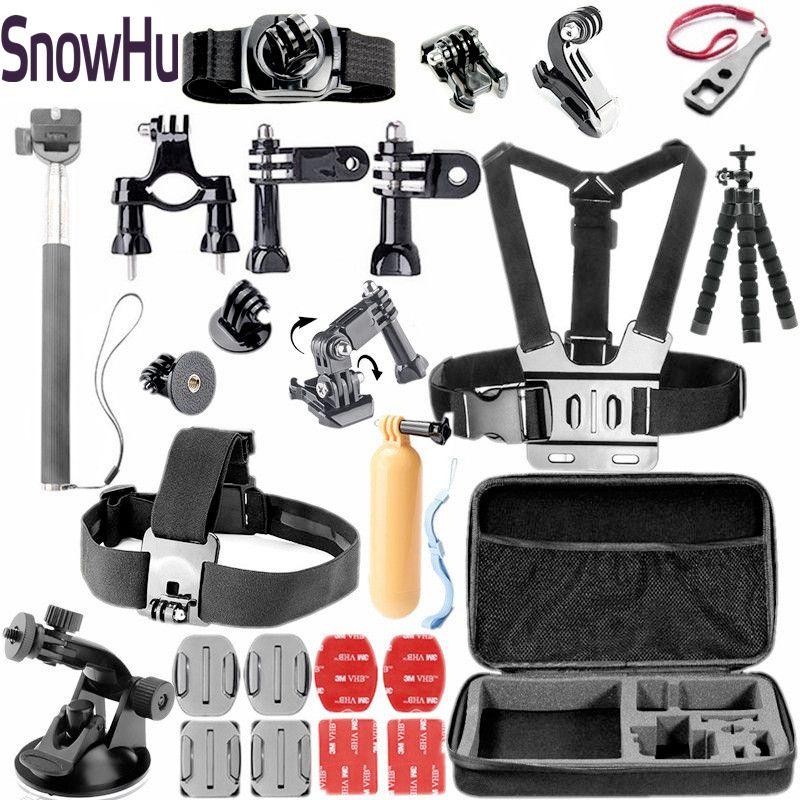 SnowHu pour accessoires gopro ensemble support de montage Manfrotto pour Go pro Hero 7 6 5 4 3for Xiaomi pour yi 4 K pour SJ4000 caméra GS45