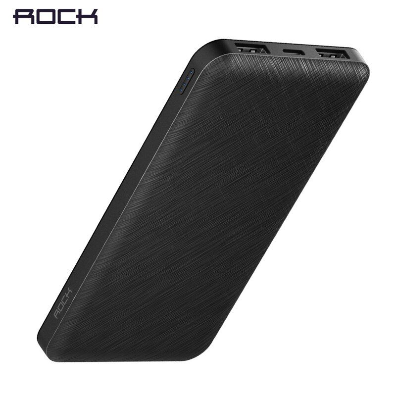 ROCK Slim 10000 mAh <font><b>Power</b></font> Bank,Portable Powerbank battery <font><b>power</b></font>-bank 10000mah With LED Light for Mobile Phone for Ultra-thin