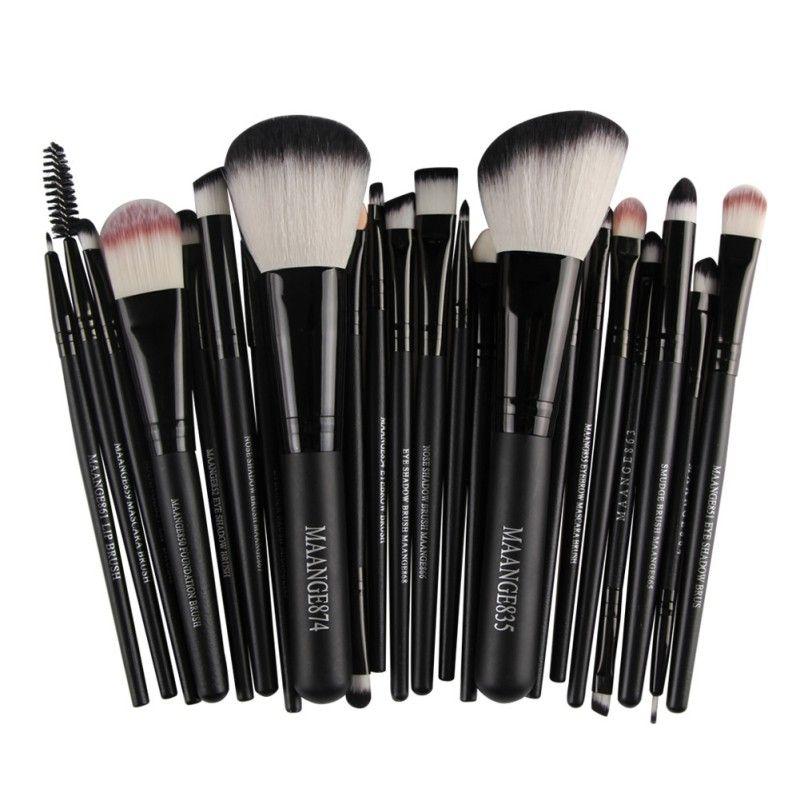 22Pcs Cosmetic Makeup Brushes Set Bulsh Powder Foundation Eyeshadow Eyeliner Lip Make up Brush Beauty Tools Maquiagem 2019