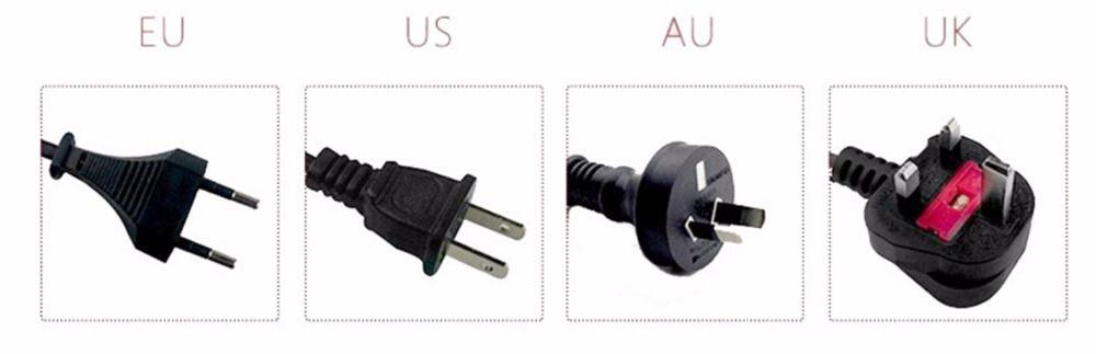 2017 Split Pelo Trimmer de Pelo Profesional cortapelos Limpiaparabrisas Con Negro Rojo Color de LA UE EE.UU. UA UK Plug de Cortar El Pelo