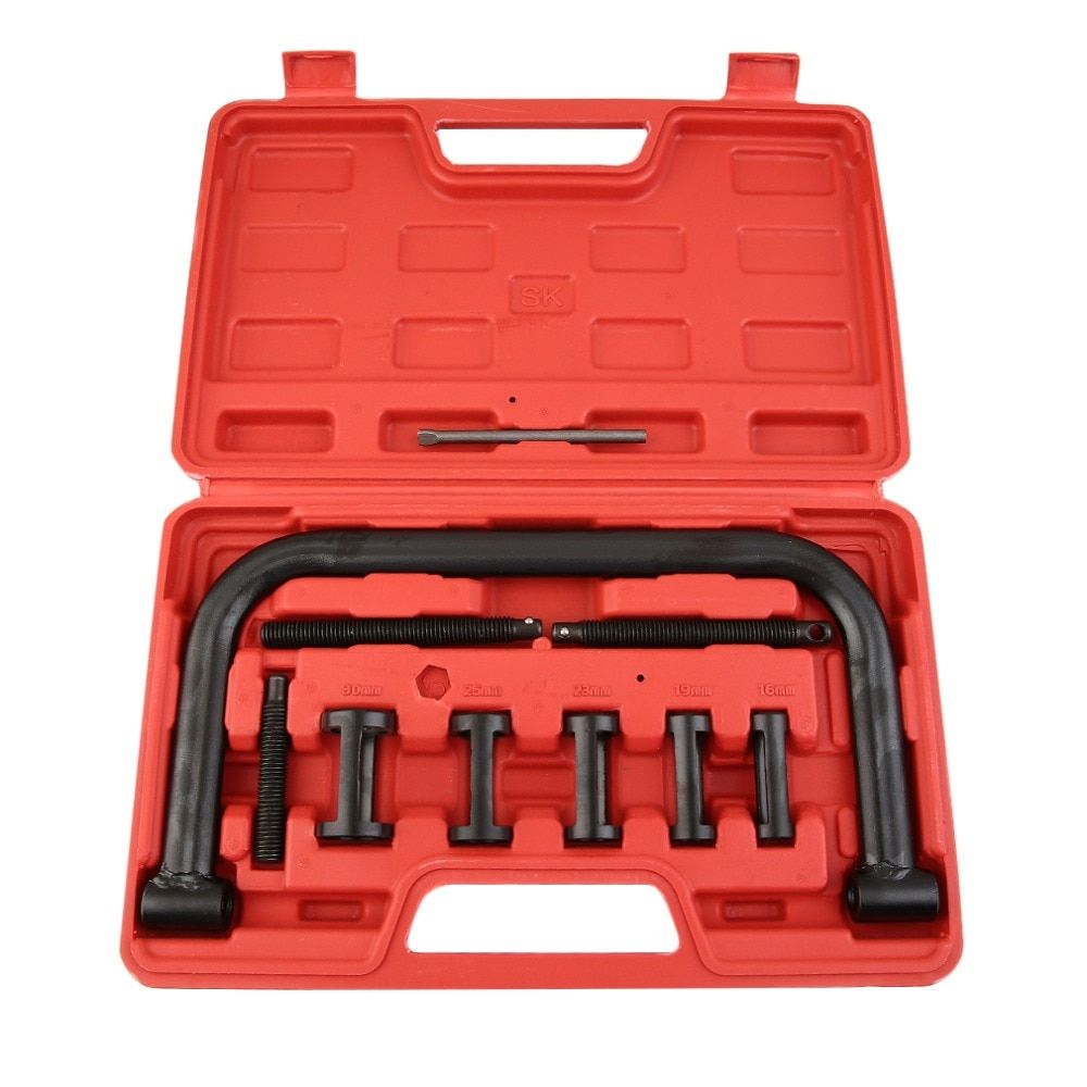 Universal Motorcycle And Automotive Car Engine Valve Spring Compressor Removal Installer Repair Tool Kit