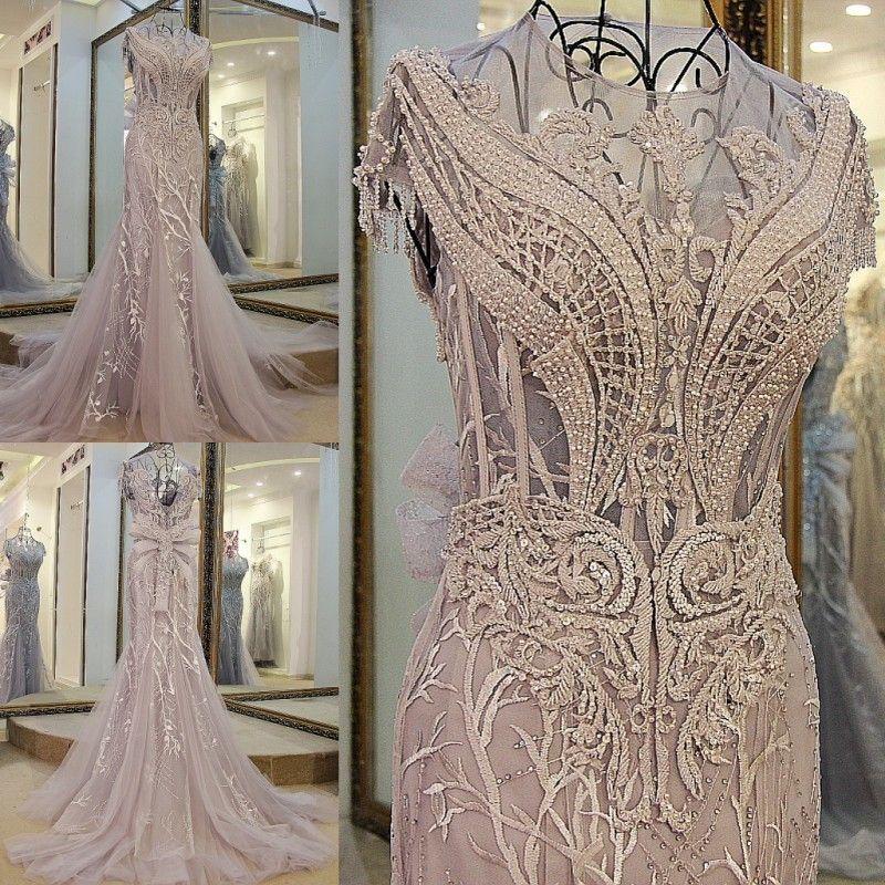 Backlake Custom Made Sleeveless O-Neck Embroidery Crystal Mermaid Wedding Dress 2018 Wedding Dresses Trumpet Court Train