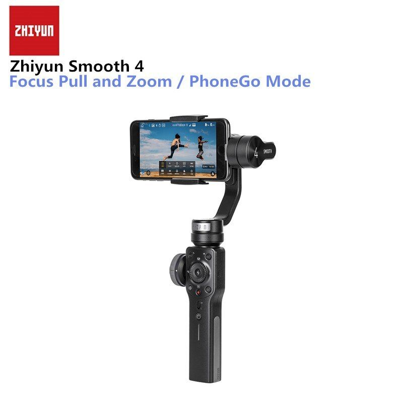 ZHIYUN Smooth 4 Q 3-Axis Handheld Gimbal Stabilizer for Smartphone iPhone X 8 Plus 7 6 SE Samsung Galaxy S9,8,7,6