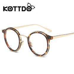 Kottdo Merek Desain Vintage Klasik Lensa Bulat Wanita Kacamata Bingkai Resep Miopia Optik Kacamata Kacamata