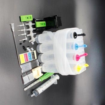 4C Универсальный СНПЧ для Canon, DIY СНПЧ для HP с дрель и всасывания инструмент и все аксессуары