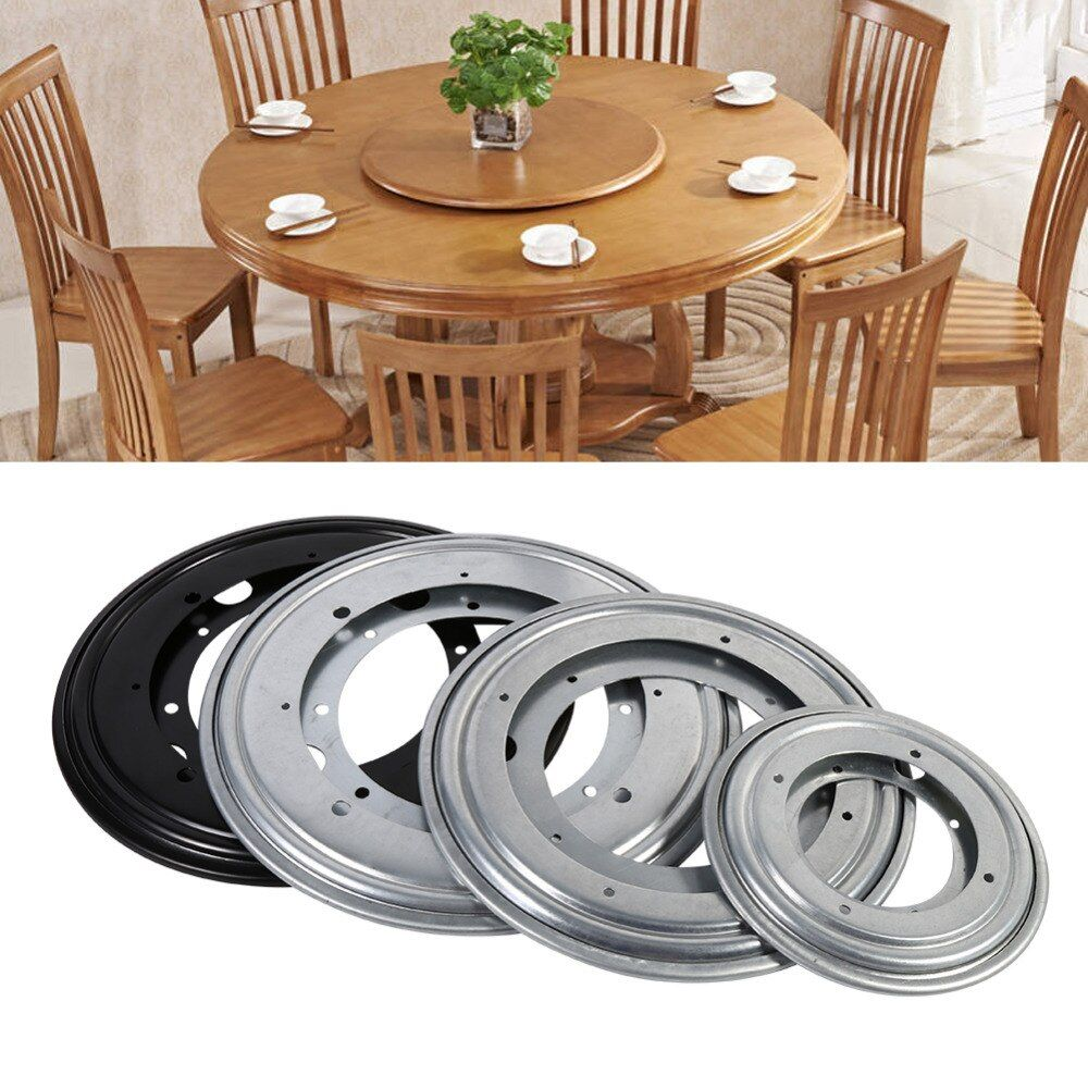 Heavy Duty Round Shape Galvanized Lazy Susan Turntable Bearing Rotating Swivel Plate For Kitchen Cabinets Tabe Swivel Plate