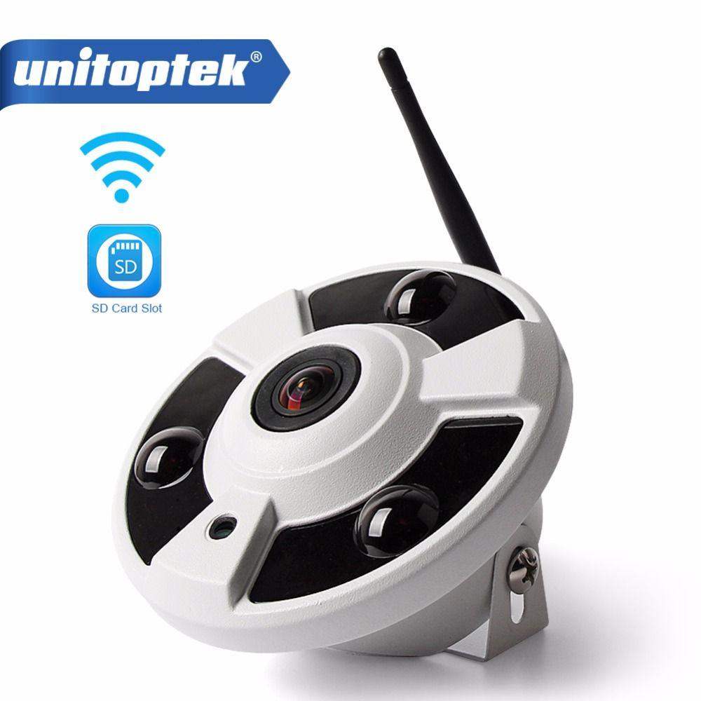 Caméra HD 1080P WIFI IP sans fil Audio CCTV caméra Wi-Fi Fisheye 180/360 degrés caméras panoramiques Onvif TF emplacement pour carte APP CamHi