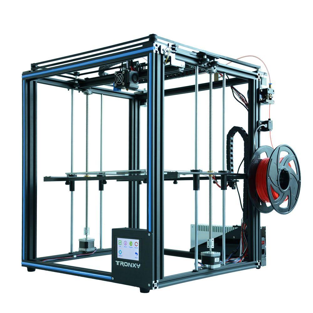 Heißer verkauf Tronxy X5SA 3D Drucker DIY kit Voll metall 3,5 zoll touchscreen Hohe präzision Auto nivellierung PLA filament als geschenk