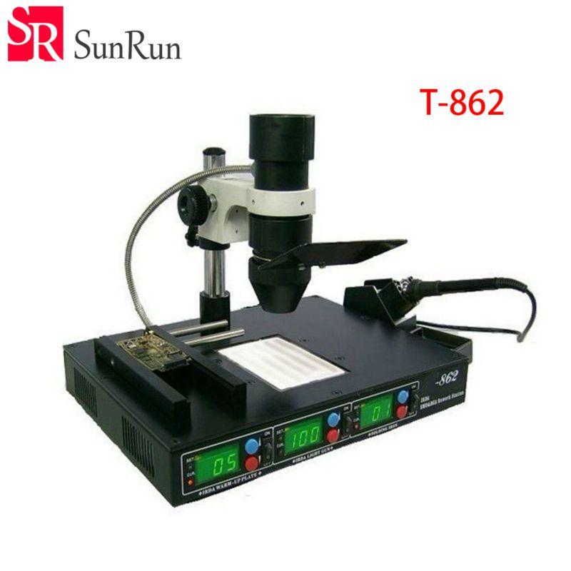 high quality Rework Station T-862 IRDA Soldering Welder T862 Infrared SMT SMD IRDA BGA Welder T 862
