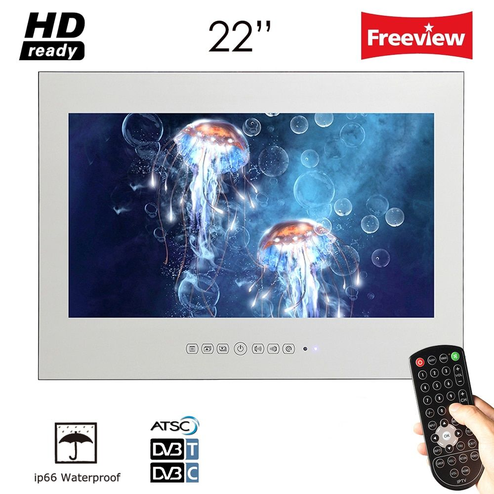 Souria 22inch IP66 Magic Mirror TV Frameless Vanishing Hotel Waterproof TV Bathroom Waterproof LED TV