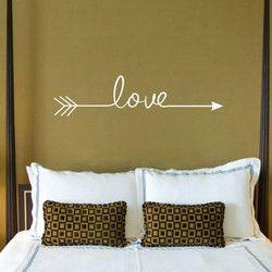Beberapa Warna Cinta Panah Stiker Stiker Dinding Ruang Tamu Kamar Tidur Vinyl Terukir Stiker Dinding Dekorasi Rumah Stiker
