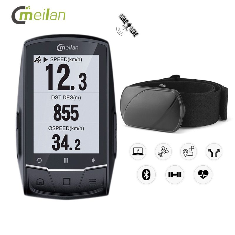 GPS Fahrrad Computer Tacho Candence Herz Rate Drahtlose Fahrrad Computer Gps Navigation 2,6 Bluetooth 4,0 Zyklus Computer