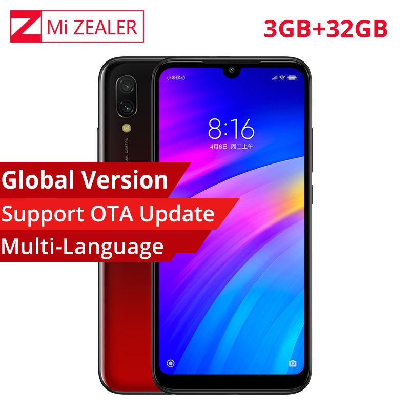 In Stock Global Version Xiaomi Redmi 7 3GB+32GB Snapdragon 632 Octa Core 4000mAh 6.26