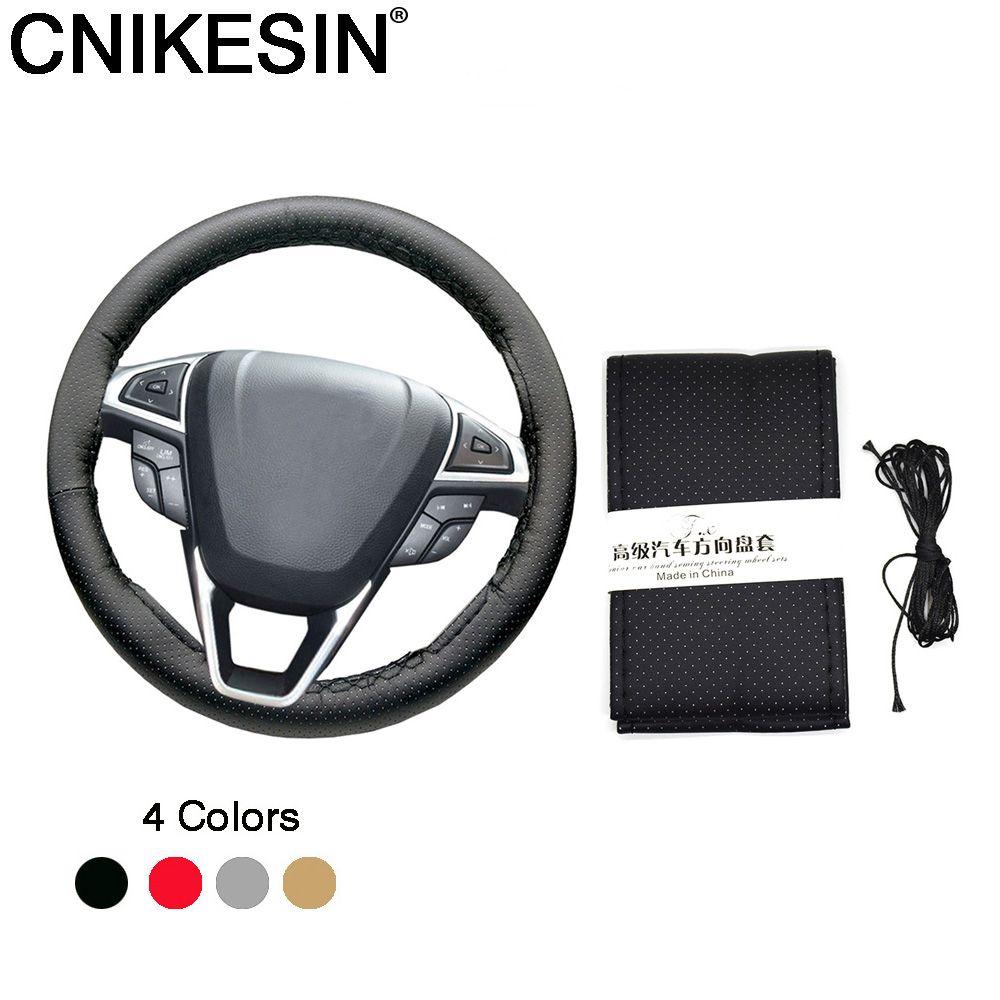CNIKESIN 1 UNIDS Coche Universal DIY Volante Hubs Agujas e Hilo de cuero Artificial Cubierta Del Volante Del Coche Car styling