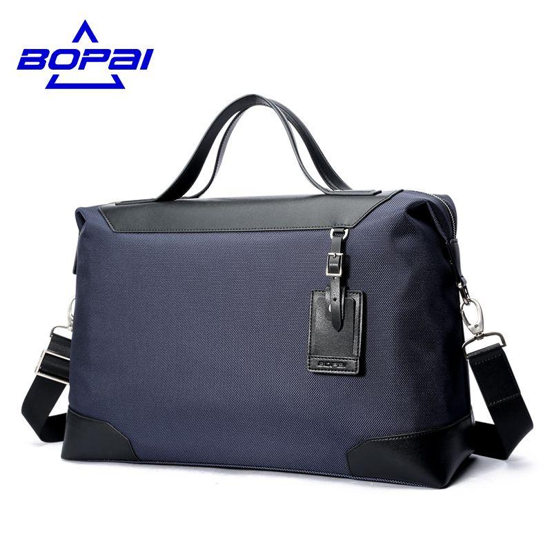 BOPAI Business Men Travel Bags Korean Fashion Male Handbag Duffle Bags Oxford Waterproof Shoulder Bags Large Traveling Bags Man