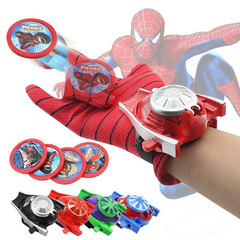 5 styles PVC 24cm Batman Glove Action Figure Spiderman Launcher Toy Kids Suitable Spider Man Cosplay toys(free to Russia)
