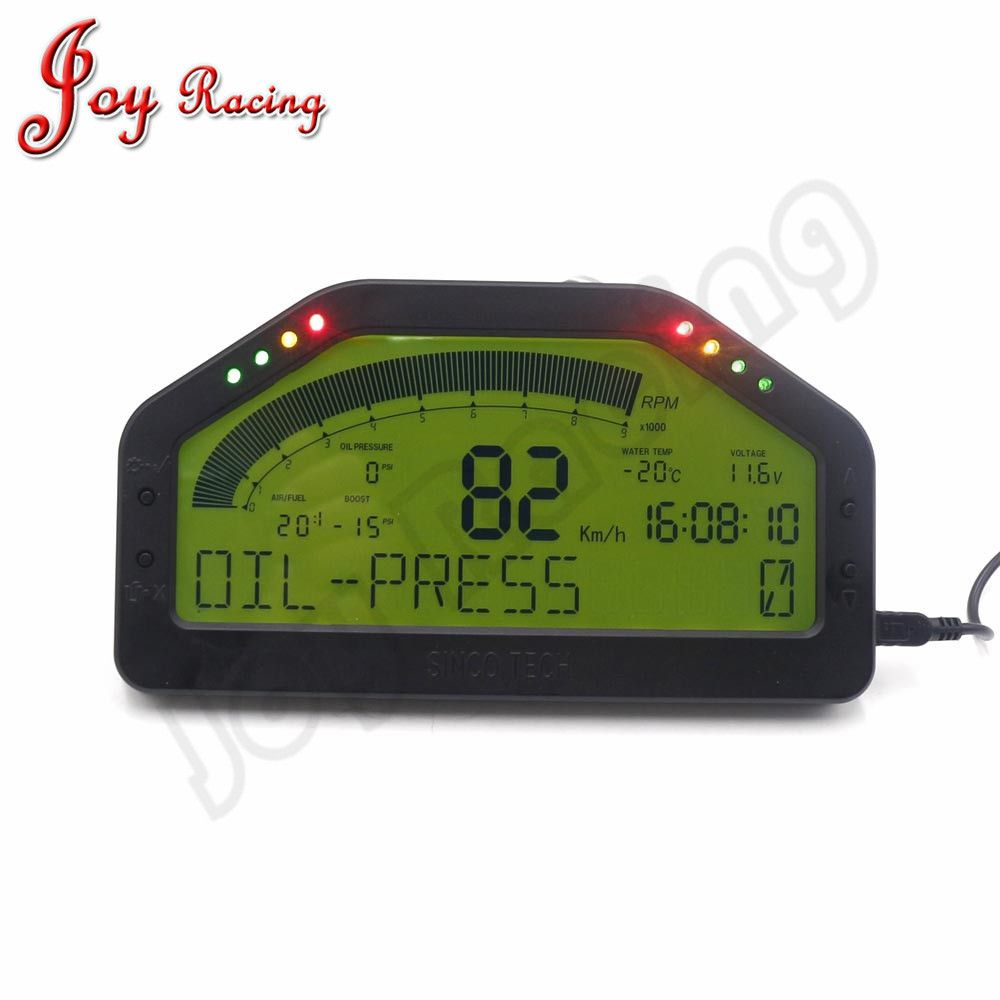 6.5 Inch Race Dash Board Full Sensor Kit Dashboard Digita LCD Race Dash Display 9000rpm Gauge