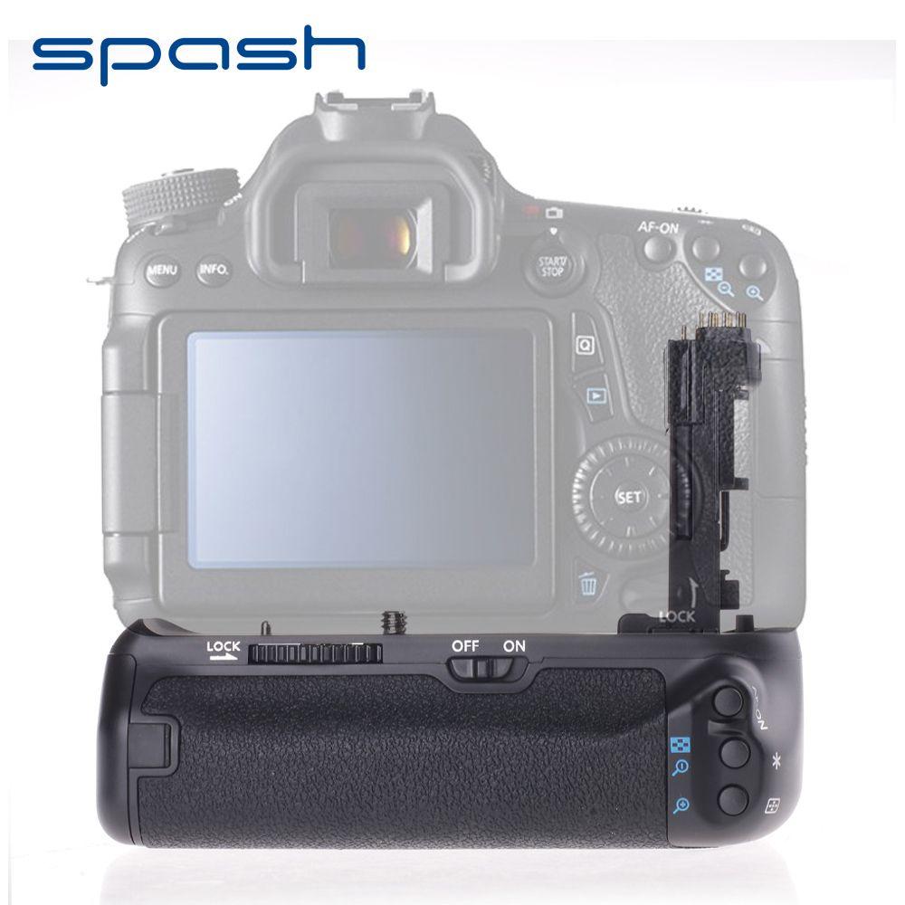 Spash multi-puissance poignée de batterie verticale pour Canon EOS 70D 80D appareil photo remplacer BG-E14 support de batterie professionnel travail avec LP-E6
