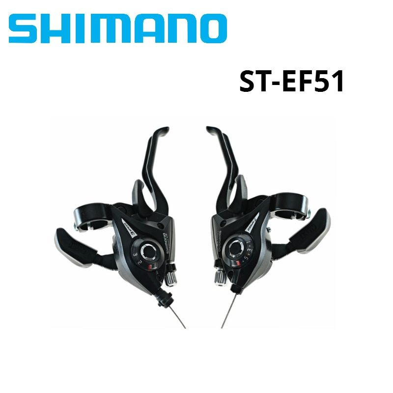 Shimano ST-EF51-7 Bike Shifter 7s 8s mtb Mountain bicycle Shifters Set Cycling Levers EF51 Shift Levers with cable 21 24 speed