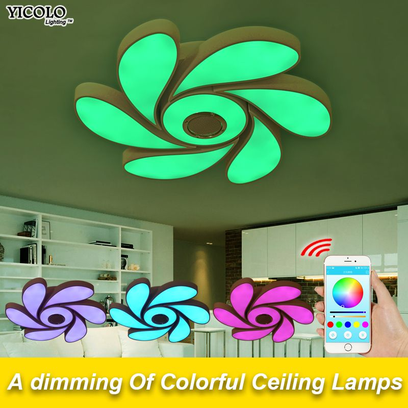 Smart APP Remote Ceiling Lights Bluetooth Music Led Ceiling lamps 72W 108W Led For Kids Room Led Spot Light Lamp