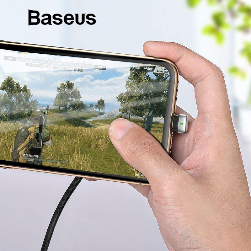 Baseus U-Typ USB Kabel für iPhone X xr xs max Ladekabel Led Licht Handy Spielen Spiel kabel für iPhone 8 7 6 6 s Plus