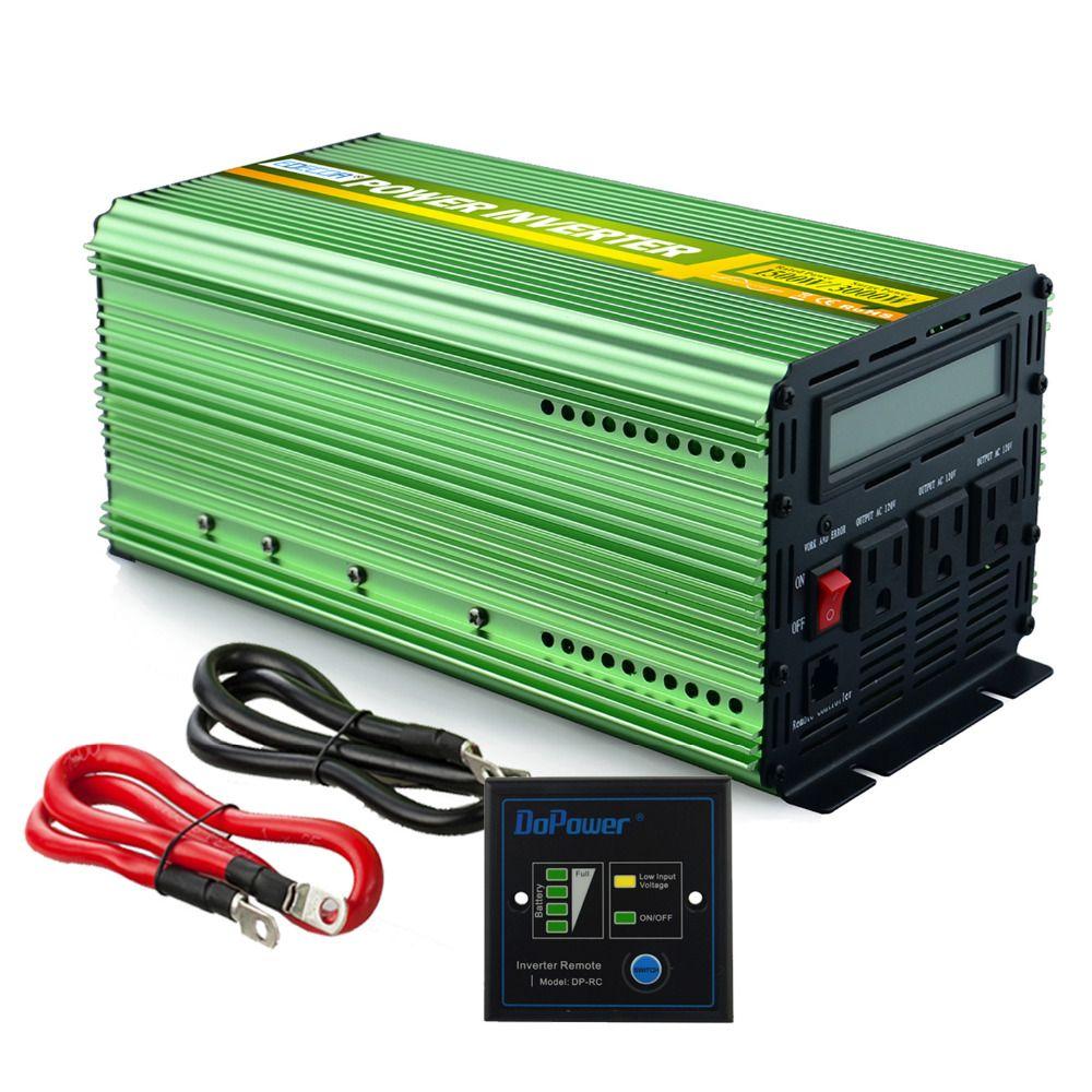 US-standard 12 V 110 V 120 V reinen sinus-wechselrichter 1500 watt 3000 watt spitzen 60Hz konverter mit fernbedienung