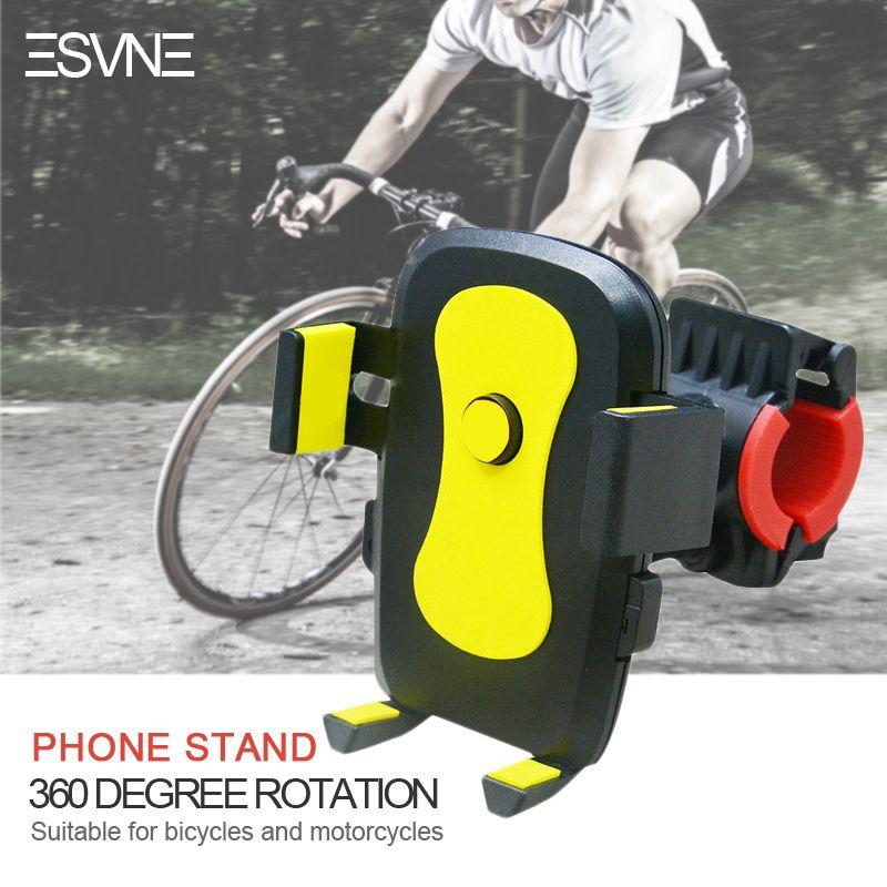ESVNE Mobile phone Mount bicycle motorcycle phone holder Universal 360 Rotation bike phone holder support cellular phone moto