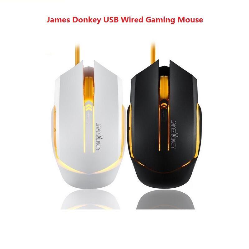 James âne 112 USB filaire souris de jeu optique 2000 DPI 6 boutons rétro-éclairage pour jeu CSGO CF LOL Mac PC bureau souris pour ordinateur portable
